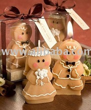 Gingerbread Bride & Groom Candle