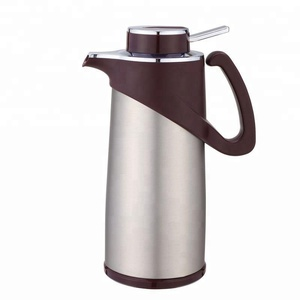 stainless steel body thermos vacuum flask glass refill