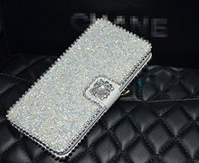 New Luxury 3D Fashion Bling Diamond Flower PU Flip Wallet Leather Case Cover For HTC Desire 816