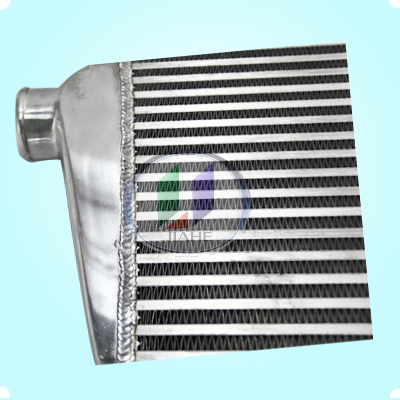 75mm thickness aluminum universal bar and plate intercooler for heavy duty truck