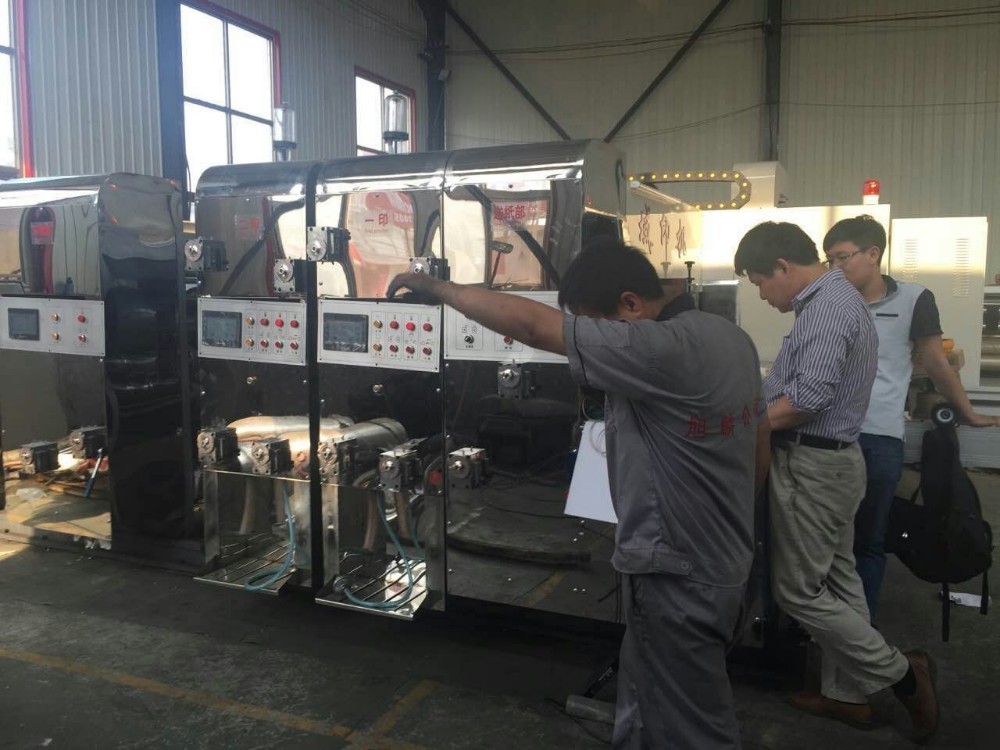 high quality corrugated carton gluer folder machine for sale