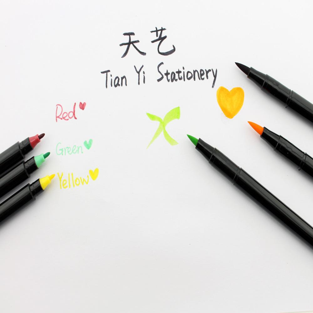 36pcs Dual Nib Coloring Brush Pen Creat Colors Pen Drawing ...