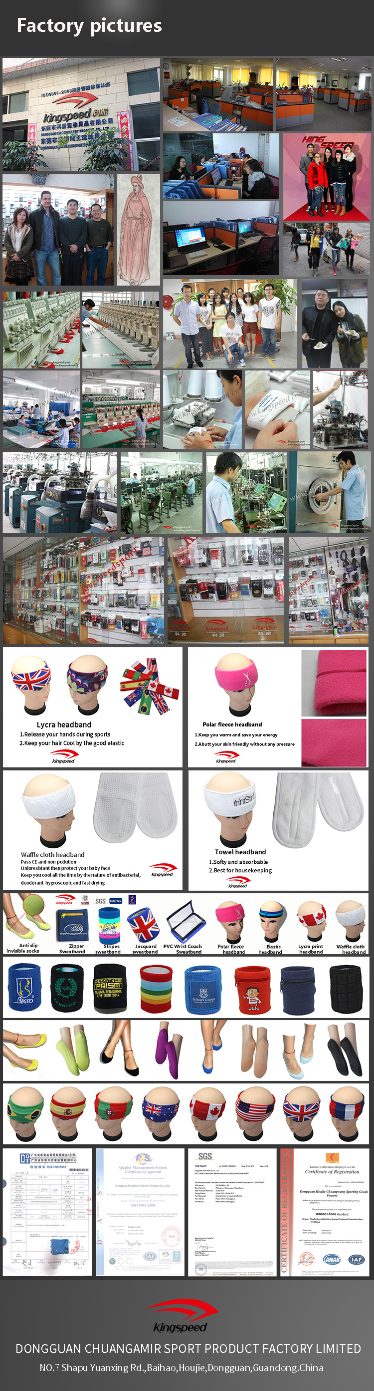 No Minimum Custom Wholesale Sweatband Black Terry Wristband Cotton Wrist  Support Free Samples Sweatbands for Embroidered