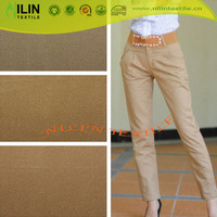 100% cotton fabric textile solid design ladies trousers fabric