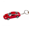 Mini Red plastic toy car keychain