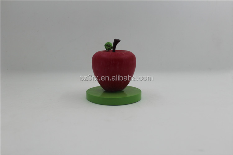 make your own design plastic vinyl toy/cheaper price custom small vinyl toys/OEM manufacturer apple vinyl toy for promotional