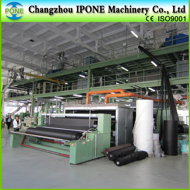 spunbonded machine, nonwoven polyester fiber wadding making production line