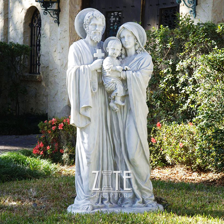 Modern Style Decorative marble holy family sculpture
