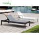 Morocco black and white modern Beach hotel outdoor recliner chaise/Sun Lounge rattan furniture