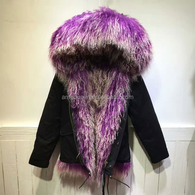 Wholesale new trendy good quality Winter unisex real wool fur coat