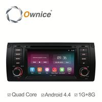 Ownice quad core Android 4.4 up to android 5.1 car GPS for BMW E39 M5 E53 built in wifi