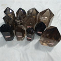 Natural smoky quartz crystal wands points rock crystal obeliks smokey towers