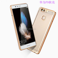 luxury Clear Crystal Chrome Side Soft TPU Case Cover For Huawei Ascend P9