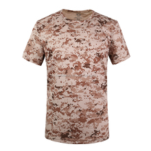 Digital Desert Short Sleeves Cotton Camo t shirts Tactical T-shirt Factory Wholesale
