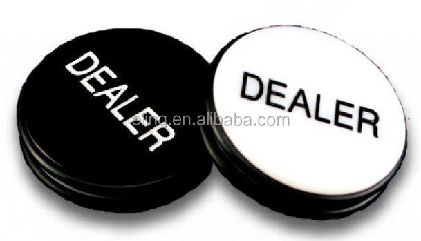 Big Blind\Small Blind Dealer Button sew on snap button with custom logo