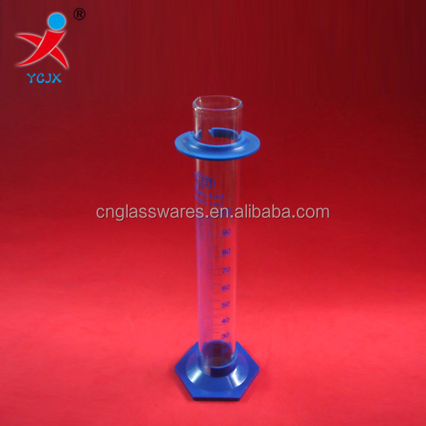 MEASURING GLASS GRADUATED CYLINDER WITH PLASTIC BASE