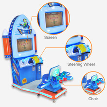 Factory Price Easy Maintenance Kids Flight Shooting Arcade Amusement Redemption Ticket Lottery Mini Machine