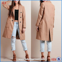 Top selling pretty girl korean style fashion ladies overcoat designs women's trench coat