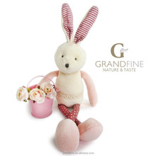 Professional manufacturer soft velvet baby bunny doll cartoon mini toy with EN71 test report and CE mark and Reach docs