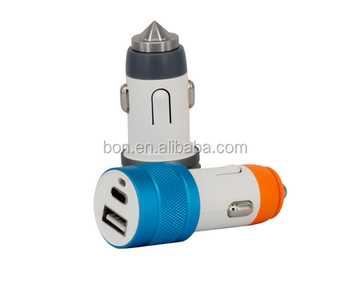 Fast Charge 3.0 a Type-C USB Car Charger Adapter for Mobile Accessories