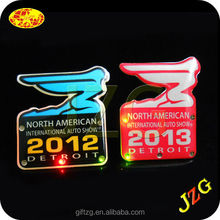 Export to America Market Promotional led glow pin badge