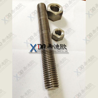 S321 EN1.4541 S347EN1.4550 Stainless Steel fasteners thread rod and nut
