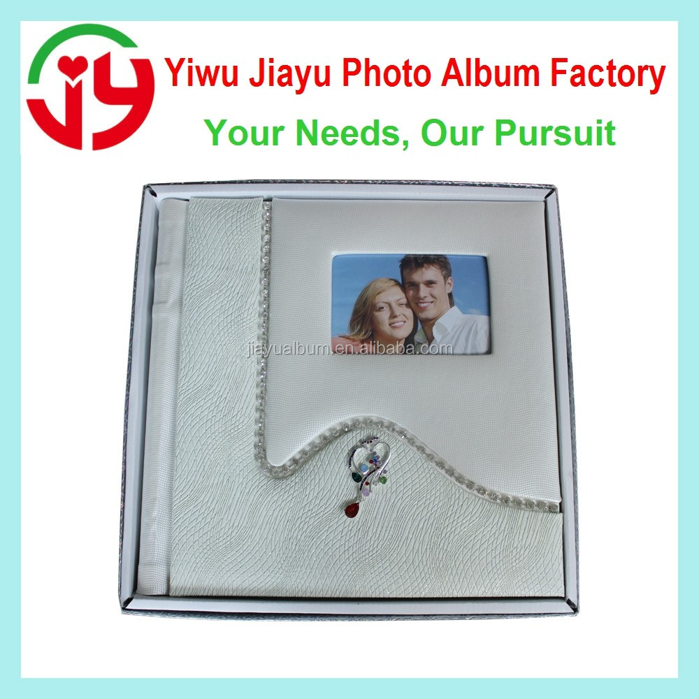 20 self-adhesive sheets leather wedding photo album cover