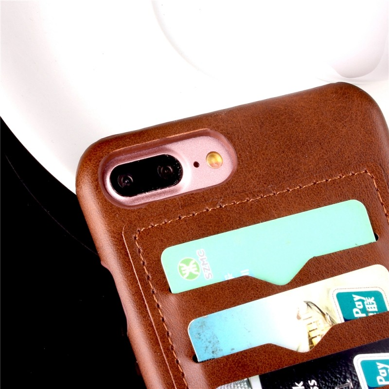 Wallet cell phone case for iphone 7 plus mobile phone back cover with 3 card slots for iphone7 accessories