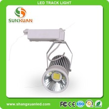 sunxuan high lumen 20w 30w led museum track lighting dimmable COB led focus lights for showrooms zuntaled track light