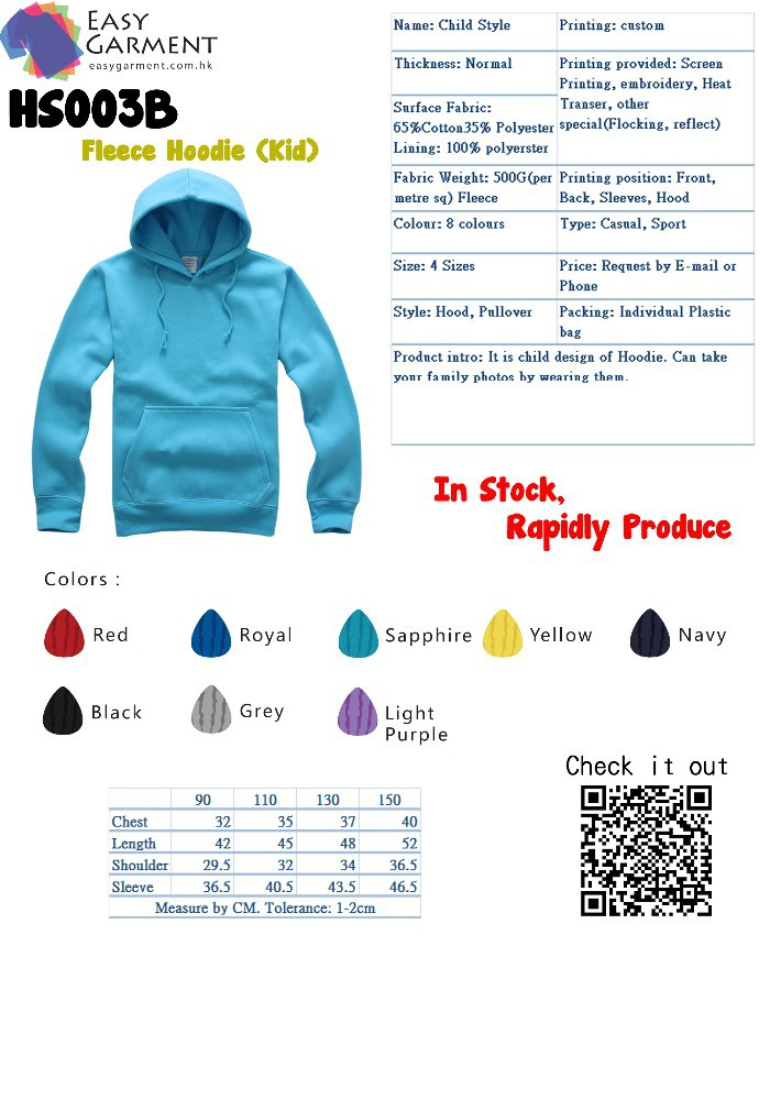 Custom Logo Promotion Fleece Blank Pull over Hooded Men and women Hoody Jacket