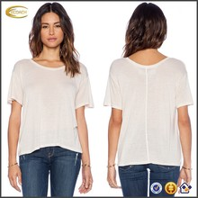 China manufacturer ladies silk soft white tee shirt blank