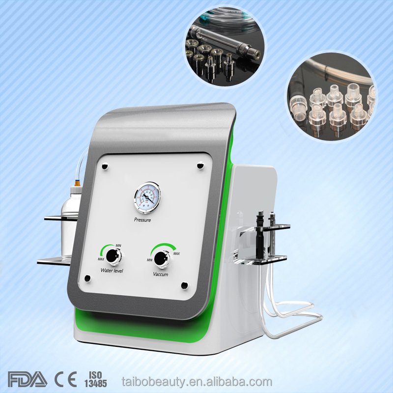 water aqua dermabrasion peeling machine/crystal diamond jet peel/spray and inject oxygen skin care machine