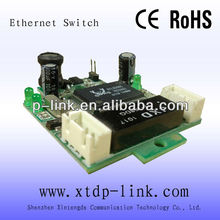 OEM Shenzhen network switches manufacturer 2 ports ethernet switch module with header port din rail mount switch