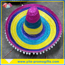 Factory wholesale unique high quality mexico straw sombrero hat