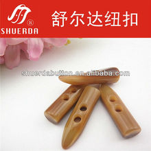 3.5*1.0cm size brown shiny small toggle button[B332]