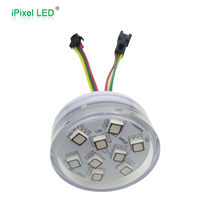 Programmable 45mm DMX 9 RGB SMD 5050 rgb led pixels for disco
