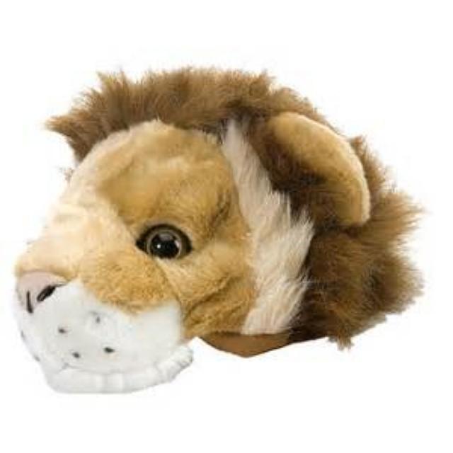 plush animal head hat