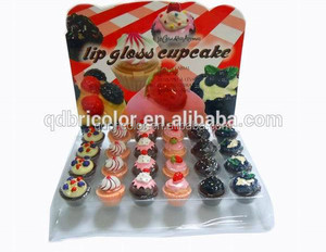 Cute Cupcake Shape Container Magic Makeup Lip Gloss
