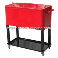 73L Rolling Cooler Beverage Cart