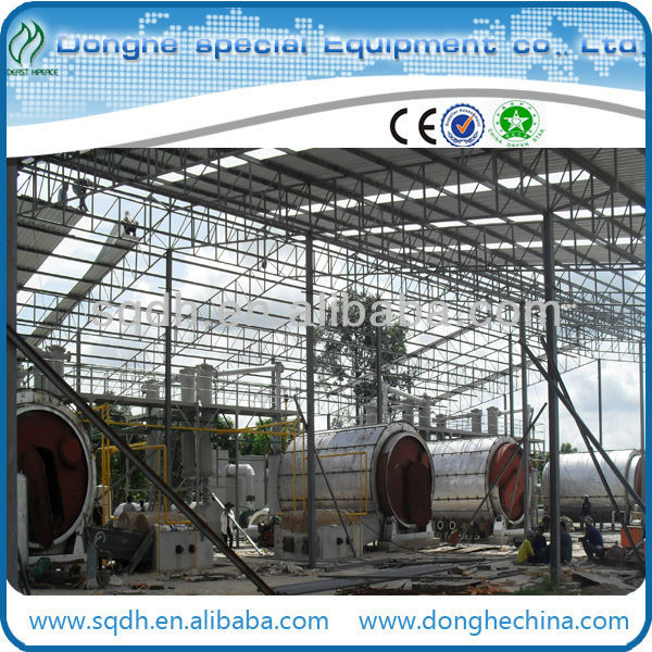 continuous used plastic pyrolysis plant with new technology waste plastic pyrolysis plant plastic recycling machine