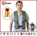 Personalized surfing inflatable life vest