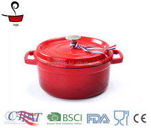 High quality red enamel cast iron cookware/casserole