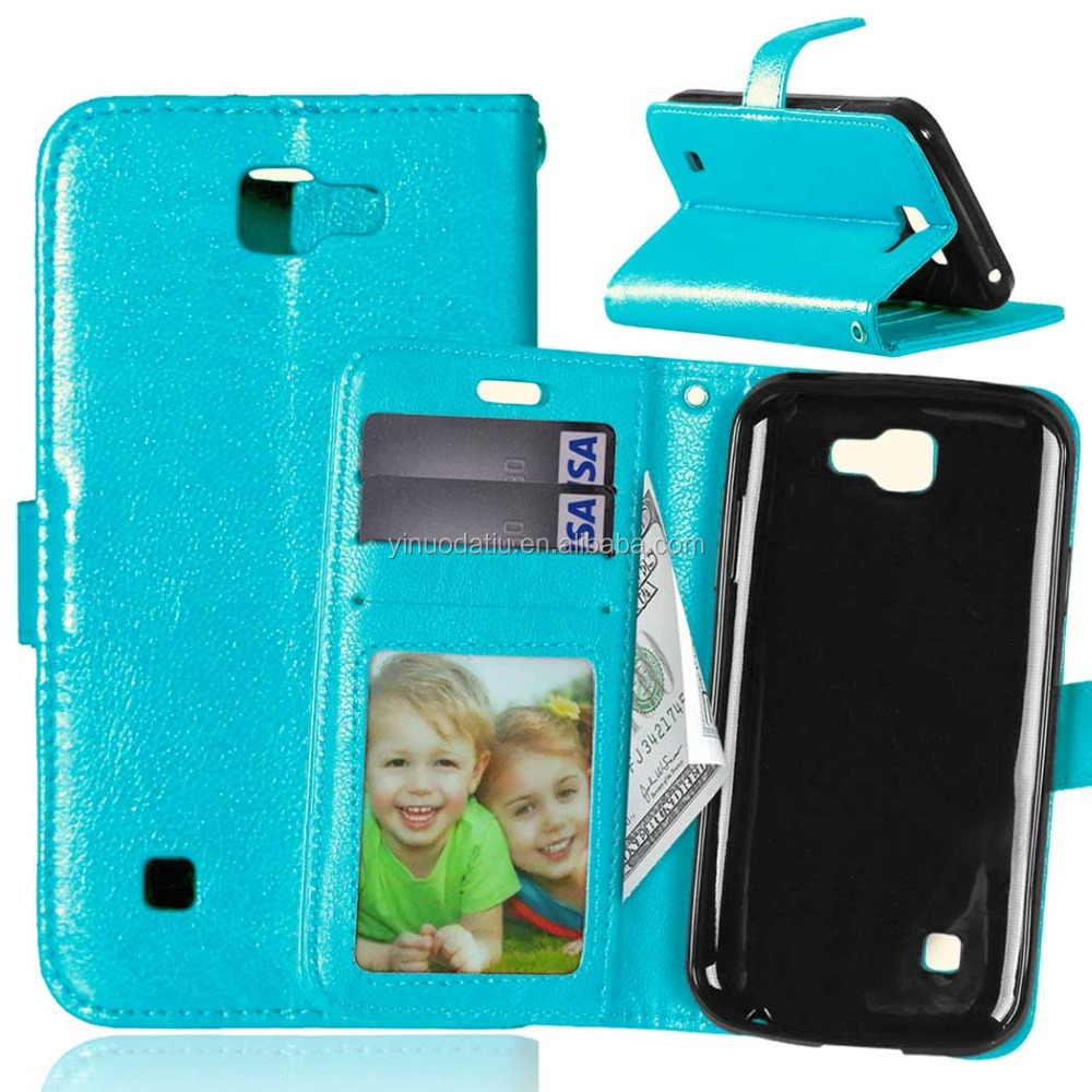 Mixed Colors Pouch Leather Flip Cover Case For LG K3 LS450