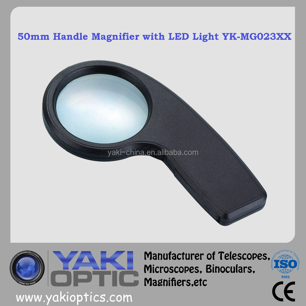 Currency Detecting Magnifying Glass , Magnifier , Loupe with LED