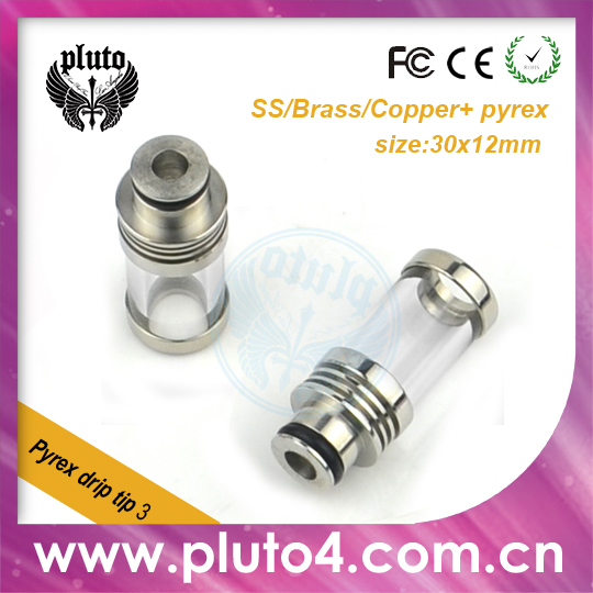 2014 new private 510 glass drip tips with stainless steel and copper material