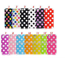 Gold quality TPU wave point for iphine 5, Circle dots tpu case for iphone 5