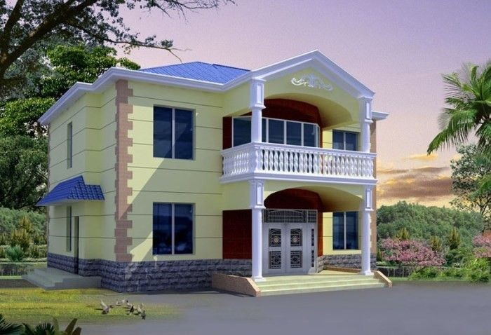 CE Certificate Prefab Steel House , Light Steel Structure House Villa