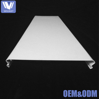 2018 Best selling aluminum c-shaped strip false ceiling , metal fall pop ceiling designs for hall