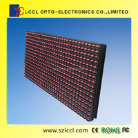 High definition P10 LED Waterproof Outdoor single red led 32*16dots module