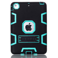 fashion hybrid rubber horizontal stand silicon phone case for ipad mini